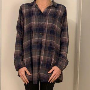 Half button down flannel